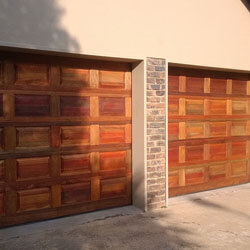 Wooden panel door outside